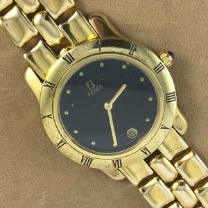 Vintage Fendi Stainless Steel Watch Roman Numerals